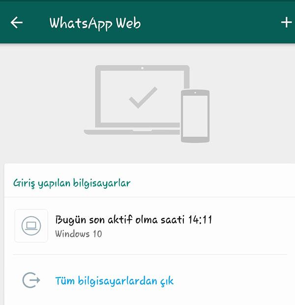 Bilgisayarda Whatsappdan Nasıl Çıkılır